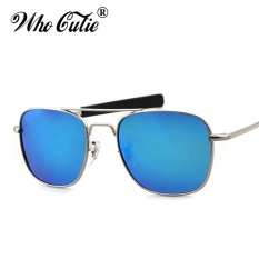 WHO CUTIE 2017 Men Polarized AO Sunglasses MILITARY American Optical Lens James Bond Caravan Sun Glasses