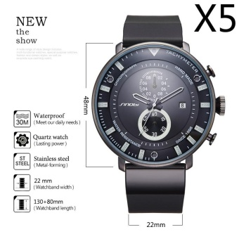 Wholesaler SINOBI 9689 Star Wars Ultra Thin Chronograph Mens Rubber Watchband Brand Military Sports Geneva Quartz Clock 2017,5pcs/pack - intl