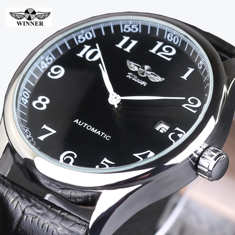 WINNER Watches Classic Mens AUTO Date automatic Mechanical Watch Self- Winding Analog .