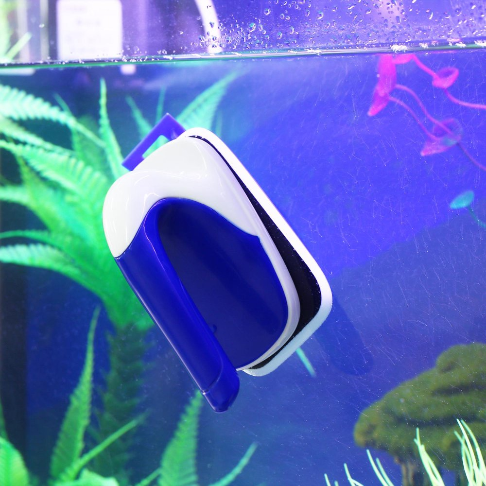 Womdee Floating Magnetic Aquarium Cleaner Glass Scrubber AquaticAlgae Scrapers For Fish Tank With Plastic Blade Acrylic Cylinder,L- intl