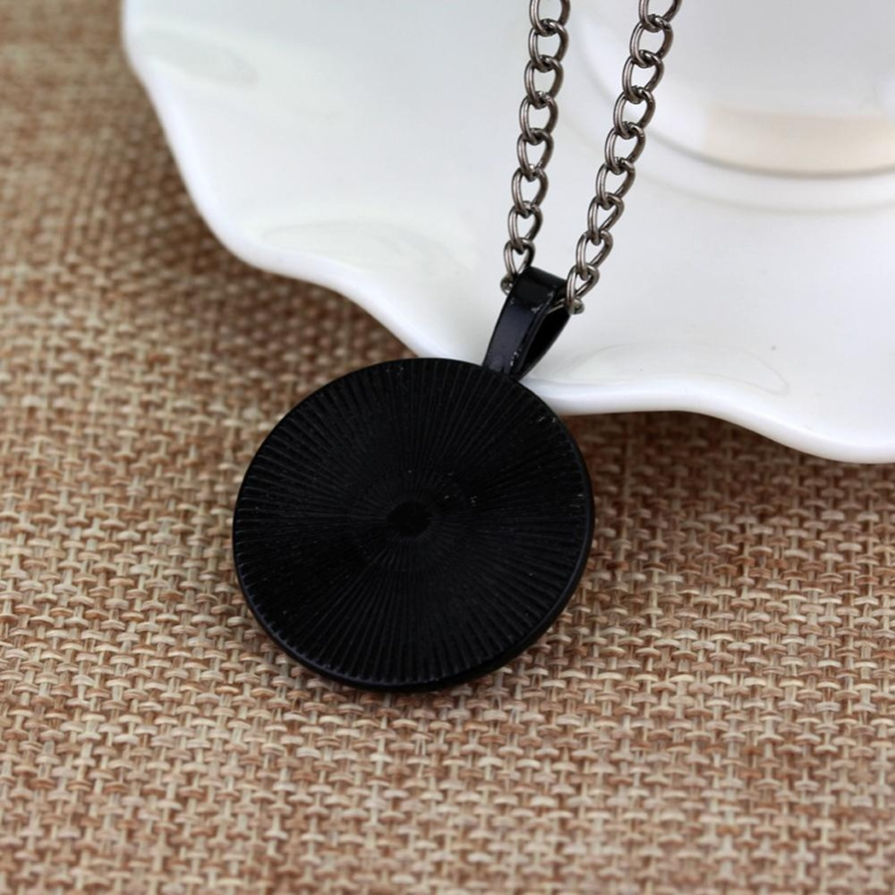 Women Glass Alloy Pendant Personalized Necklace Party Gift (Black) - intl .