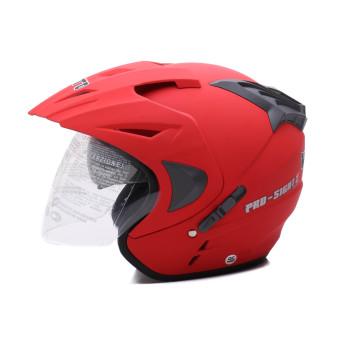 WTO Helmet - Double Visor - Pro-Sight - Merah Doff