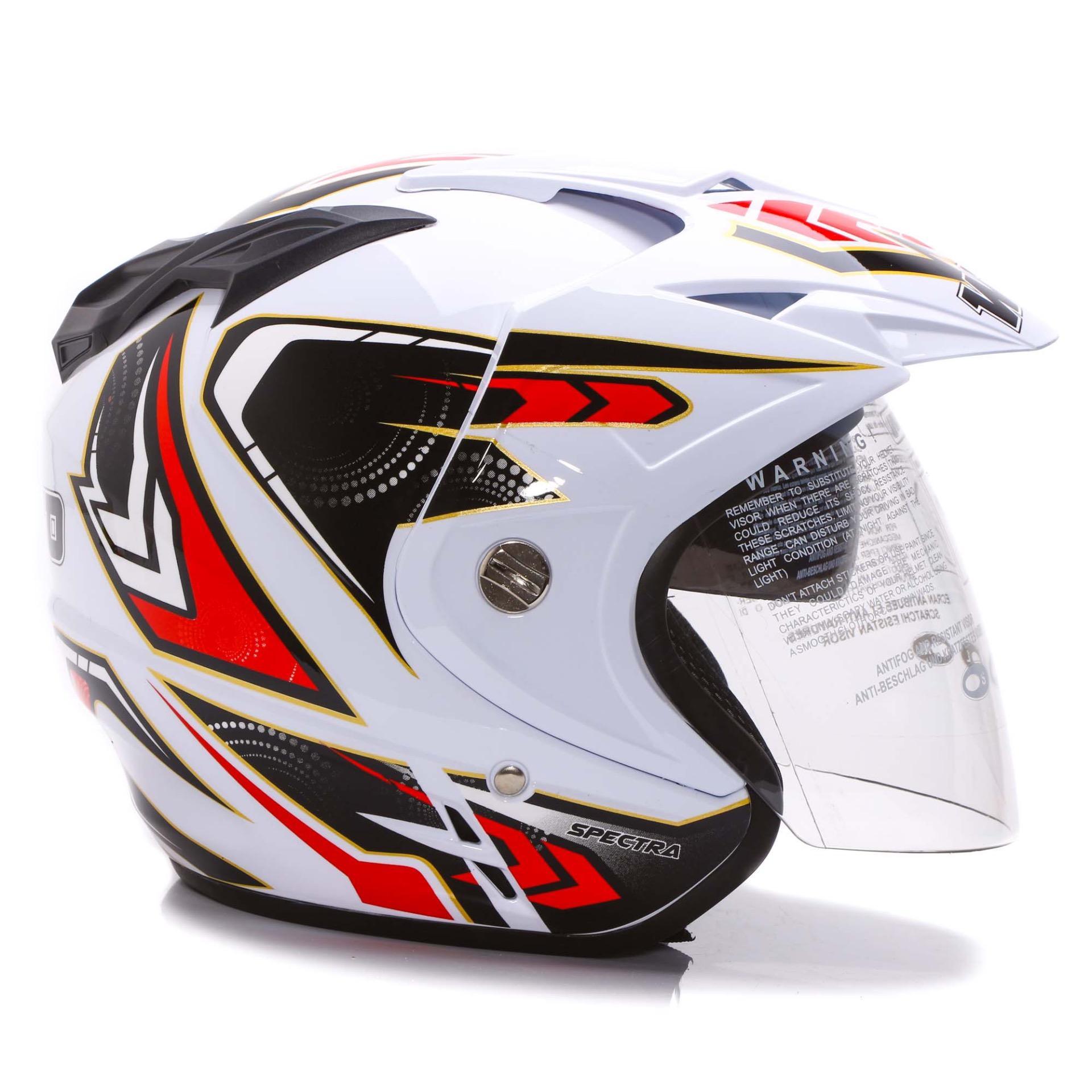 Wto Helmet Junior Neo Mc Queen Merah Spec Dan Daftar Harga Terbaru Rapunzel Ungu Impressive Spectra Putih