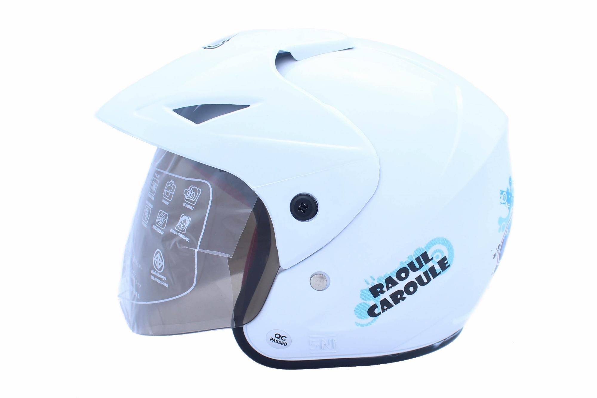 WTO Helmet Junior Neo Caroul - Putih .