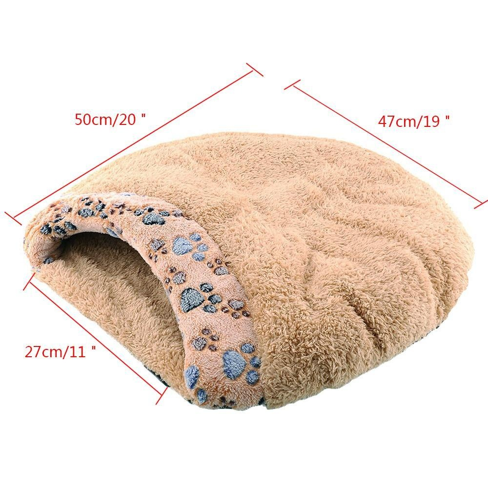xudzhe Kitten Sleep Bed With Paw Print Windproof Winter Cat HouseFor Cats Puppy And Rabbits. - intl