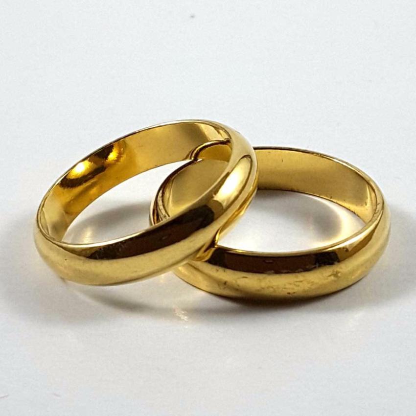 Xuping Cincin Couple Polos 18K Gold Plated .