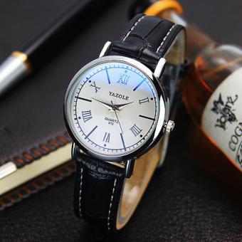 YAZOLE Men's Business Leather Quartz Watch - intl