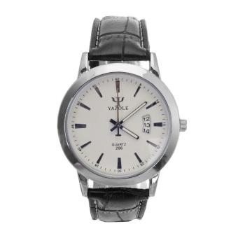 Yazole Men's Military Sport Analog Quartz Wrist Watch (White+Black) - intl