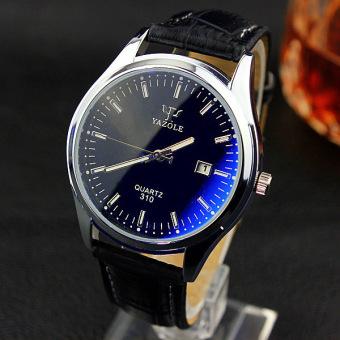 YAZOLE merek jam tangan wanita jam tangan pria jam kuarsa laki-laki kuarsa dunia yzl310h - hitam - ???? ??????