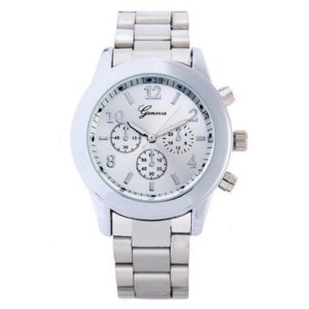 YBC tali paduan busana kasual besar Dial jam Quartz jam tangan - Internasional