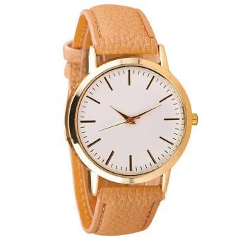 YBC Women Simple PU Leather Band Analog Quartz Wrist Watch - intl