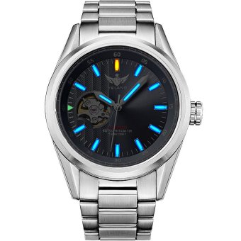 YELANG V1013 Mens Tritium Gas Blue Luminous Waterproof Genuine Steel Strap Business Automatic Mechanical Watch