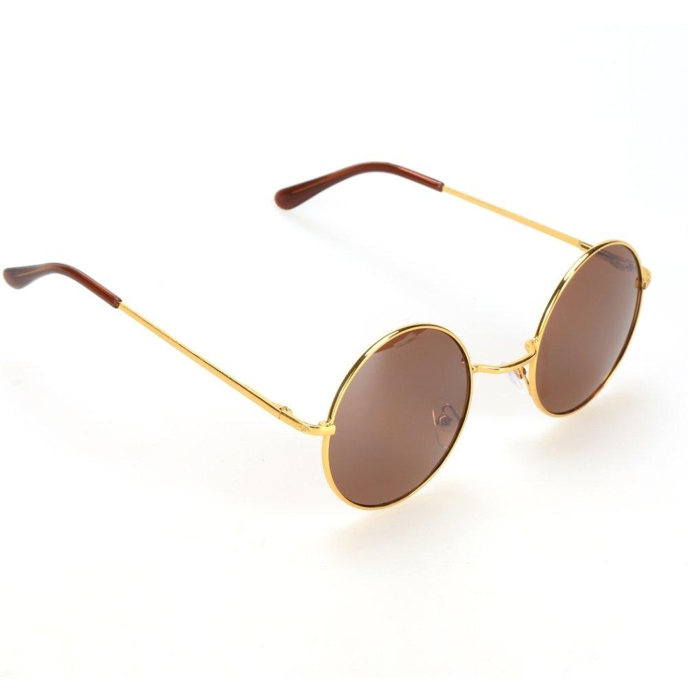 ... Yidabo Unisex Fashion Kacamata Vintage Retro Gaya Kasual Bingkai Lensa  Kacamata Bundar Kura f19126dc7b