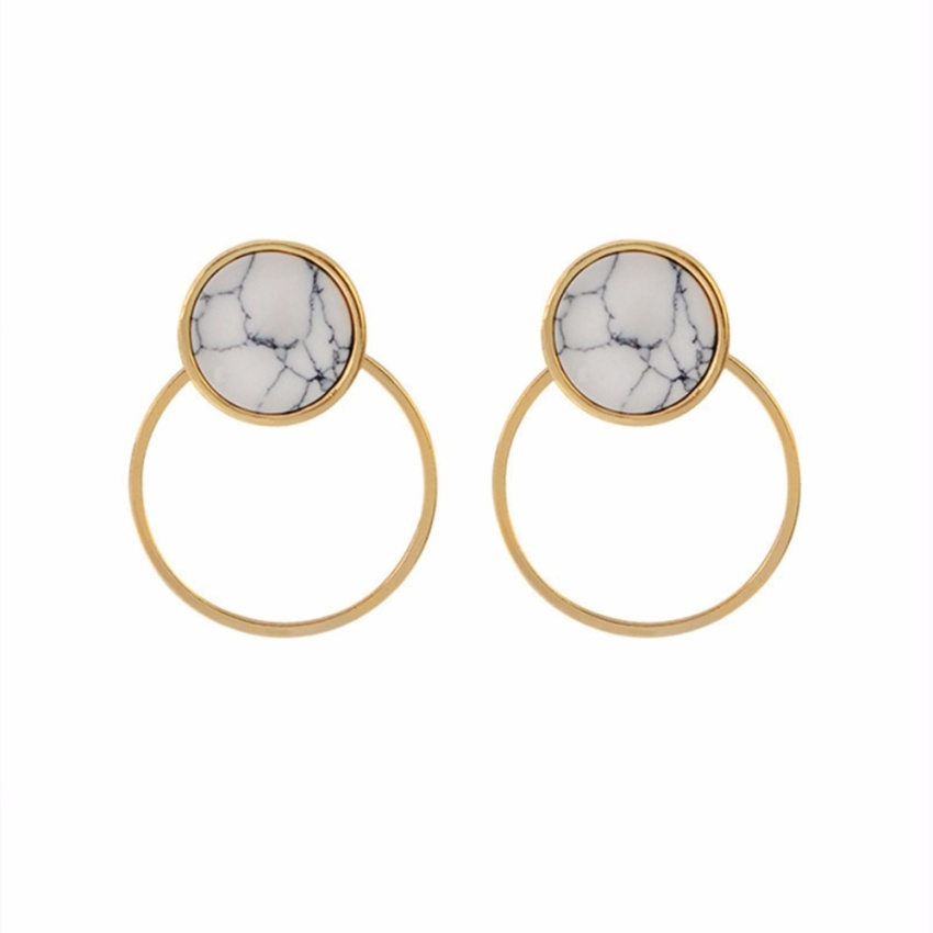 Decorated Color Matching Simple Earrings. Source · YingWei Simple Fashion Geometric Round .