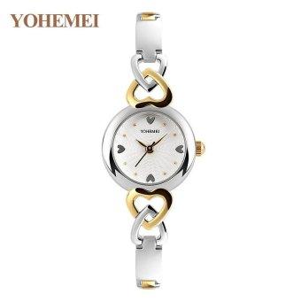 YOHEMEI 0194 Luxury Brand Watches Women Fashion Ladies Waterproof Quartz Watch - White