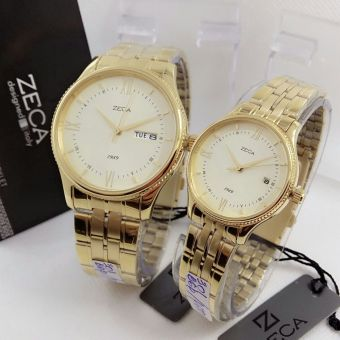 Zeca Jam Tangan Couple - Gold - Stainless Steel - Zc 301 Gold