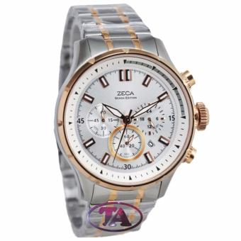 Zeca Z09884 Chronograph Jam Tangan Pria Stainless Steel (Silver-Gold)