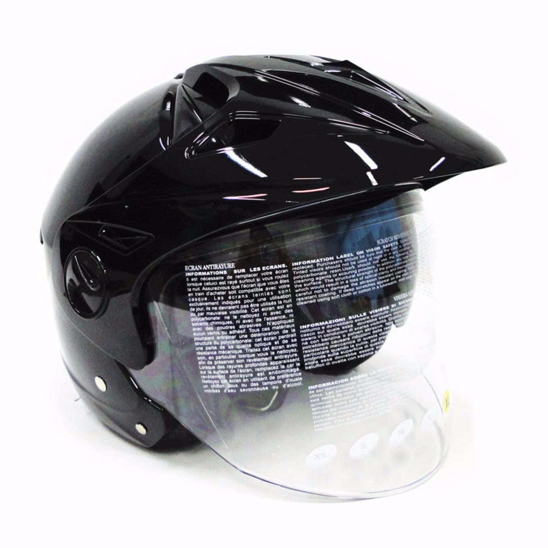 Zeus Helm Half Face Retro Zs 210k Whitedd36 Black Grafik Daftar 218 Iron Head Putih Ss6 Hitam Double Visor 612c