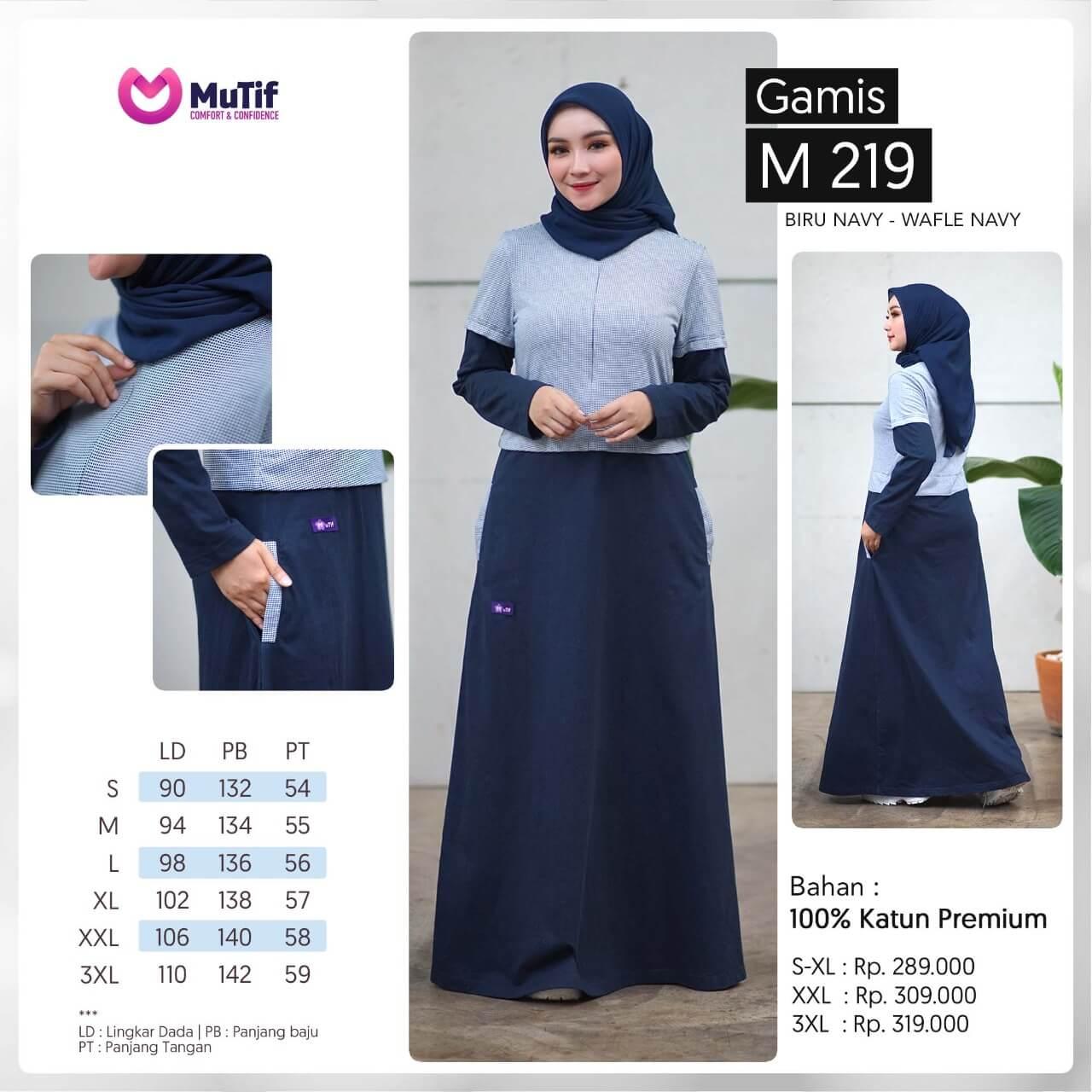 Baju Wanita Gamis Mutif Terbaru Dan Trendy 2020 Mtif 219 A Biru Navy Wafle Navy Lazada Indonesia