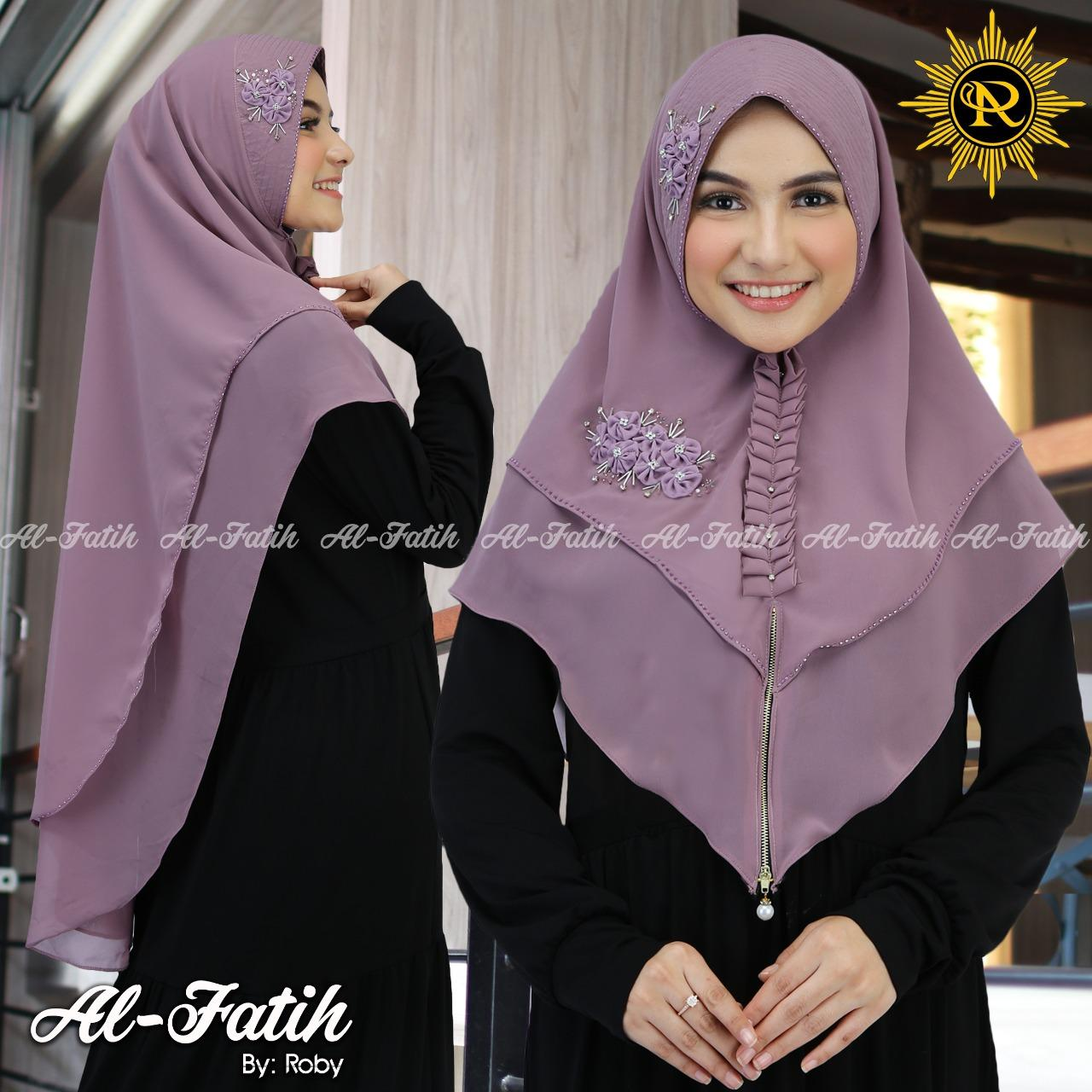 Hijap Syar I Khimar Model Bergo Terbaru Dan Termurah Terlaris Kerudung Wanita Sret 2layar Payet Bunga Di Toko Barma Scraff