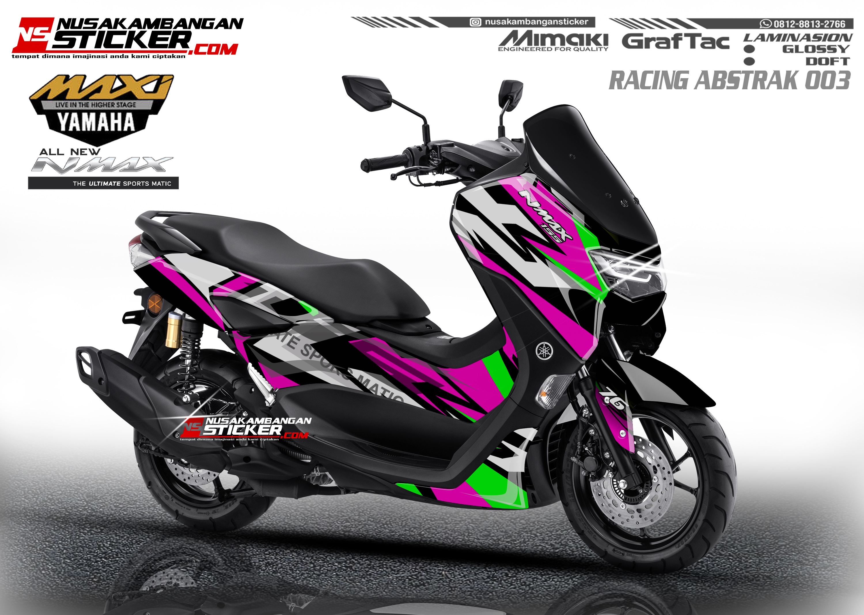 Decal Stiker Nmax 155 New Grafis Abstrak Nusakambangan Sticker