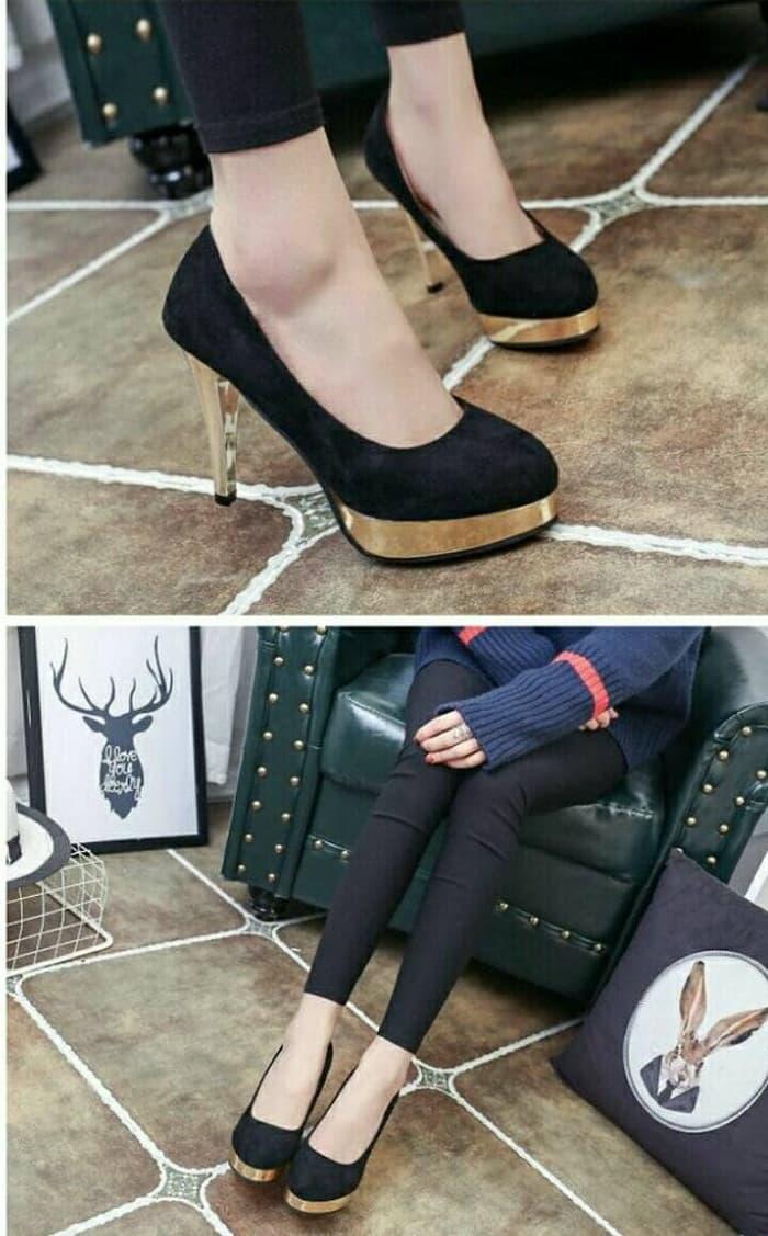 High Heels Wanita Korea Kekinian Mewah Murah Sandal Hak Jinjit