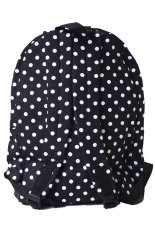 Bags Hearted Classic Polkadot Backpack - Hitam