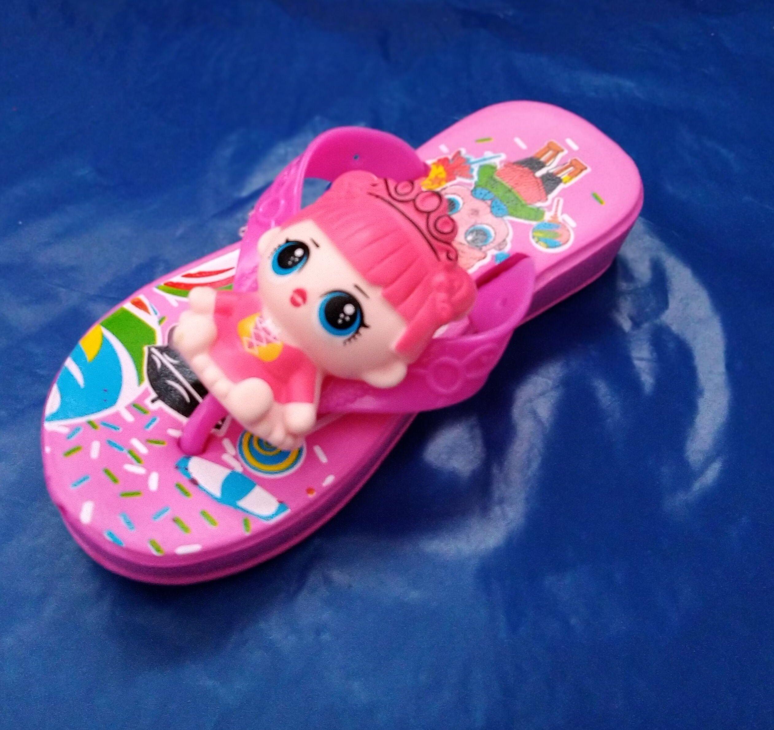 Sandal anak perempuan cewek Boneka LOL karakter animasi kartun lucu