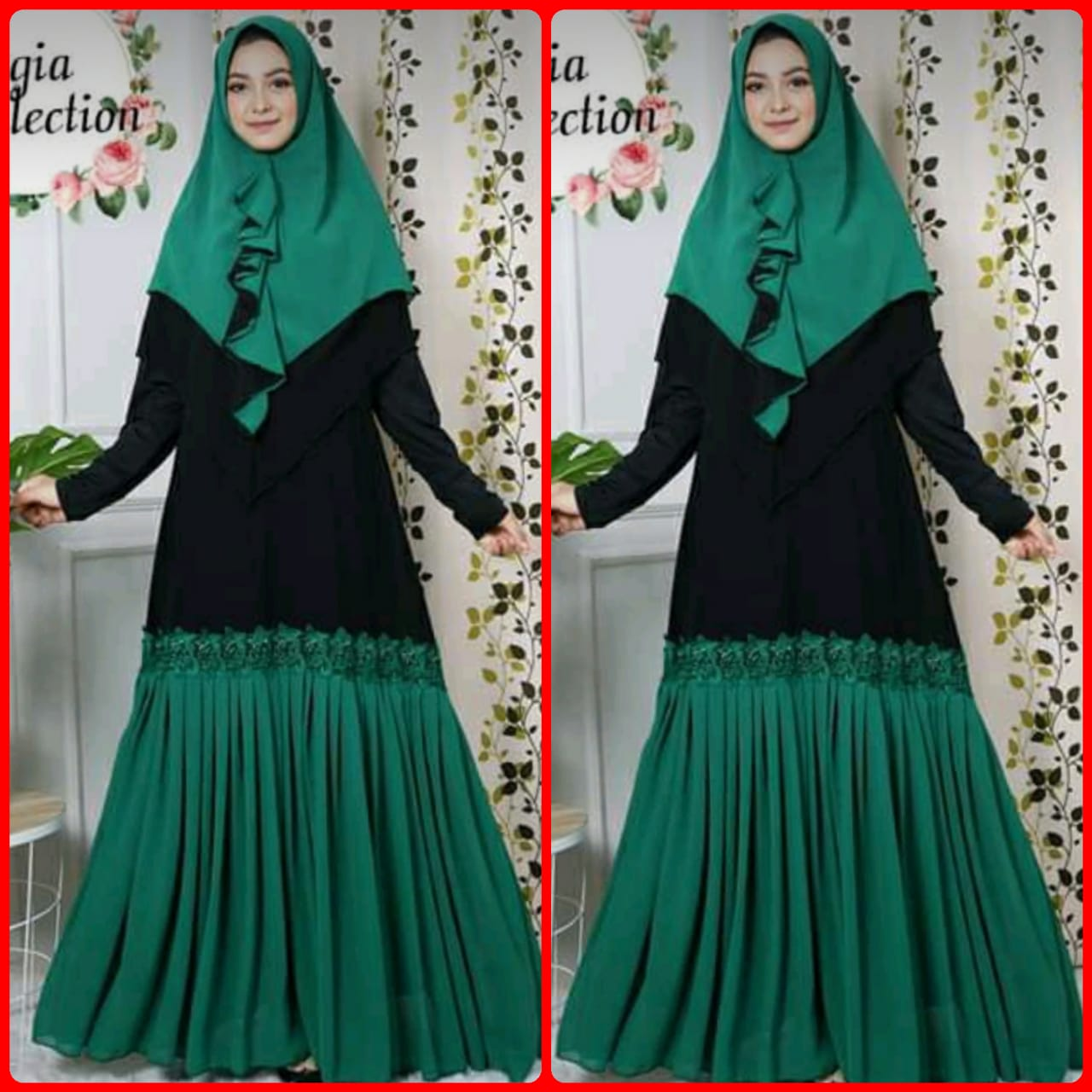 Model Baju Gamis Sifon Babydoll Hijabfest