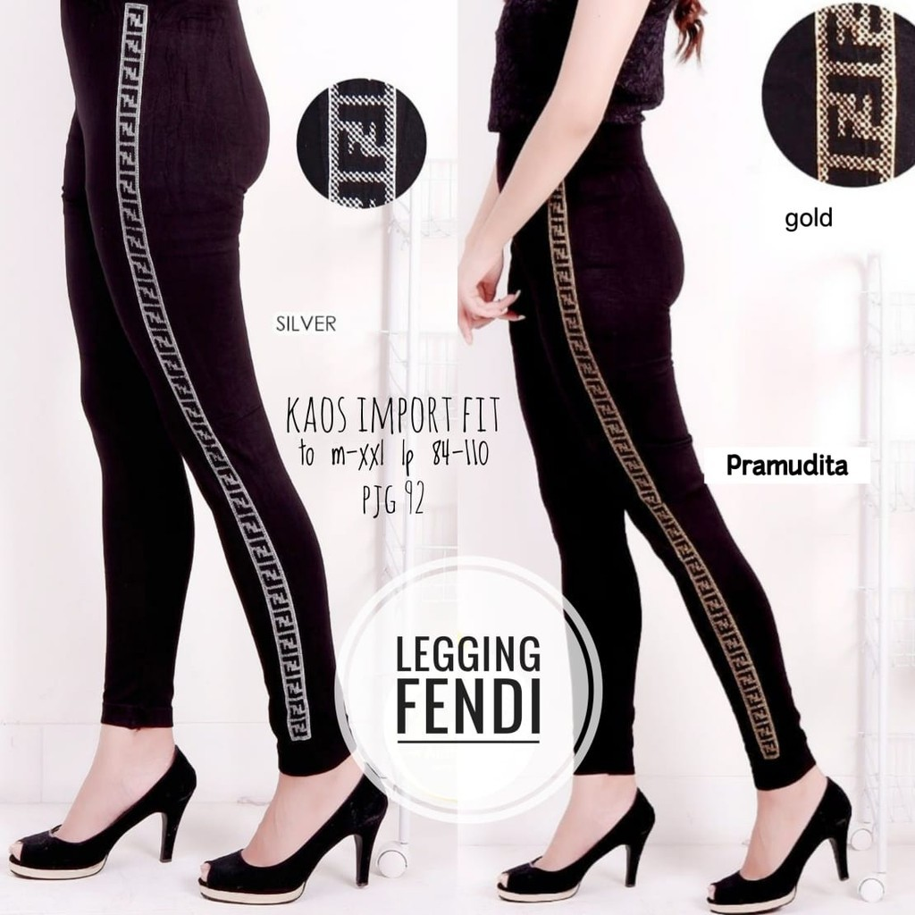 Celana Fendi Celana Wanita Legging Wanita Celana Terlaris Celana Kasual Lazada Indonesia