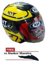 KYT DJ Maru Special Edition Helm Pria - Kuning - ABS Orisinil - KYT232