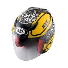 KYT Helm Half Face DJ Maru #11 Yellow Gunmetal