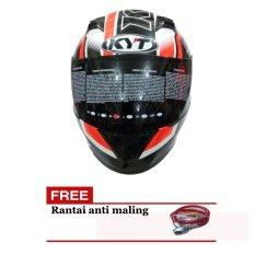 KYT R10 Helm Pria - Hitam-Merah - ABS Orisinil - KYTR10 321