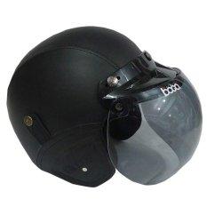Matrix Helm - Helm Bogo Retro Hitam Polos