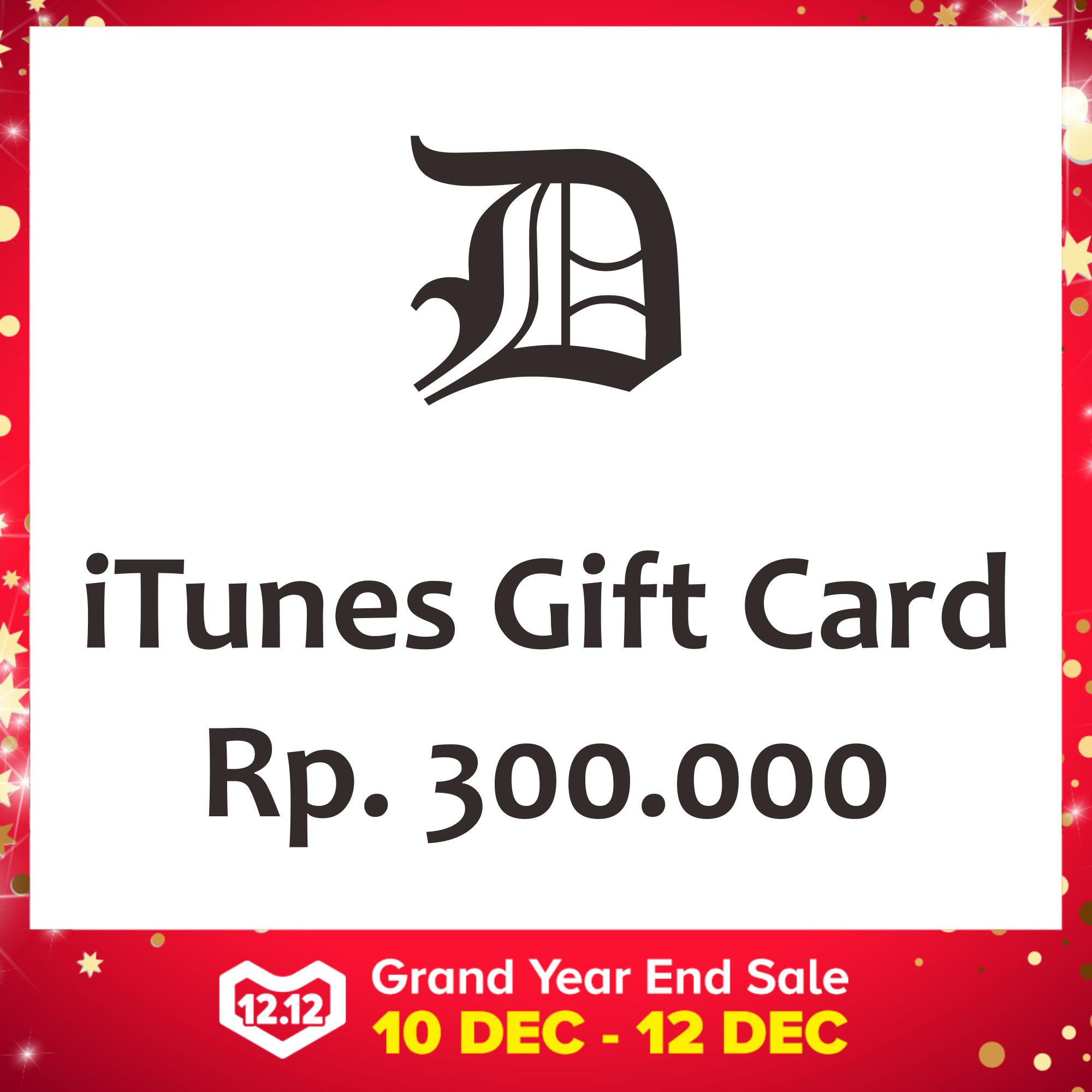 iTunes Gift Card Indonesia 300