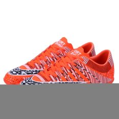 Men`s Outdoor Soccer Boots Turf TF Indoor Football Soccer Futsal Shoes (Red) (Intl)