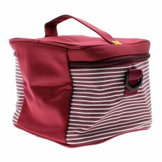 Whyus Compact Portable Insulated Outdoor Picnic Lunch Box Tote Storage Bag with Strap (Wine red) (Intl)