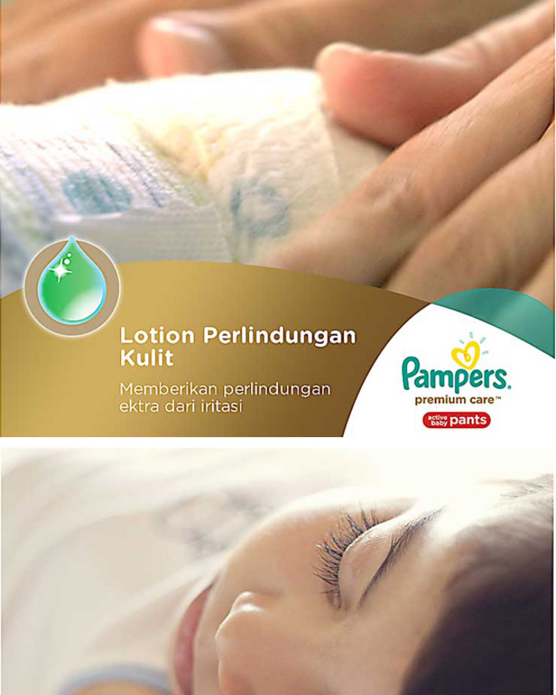 Spesifikasi dari Pampers Popok Celana Size M 3x68 Premium Care - Popok Bayi