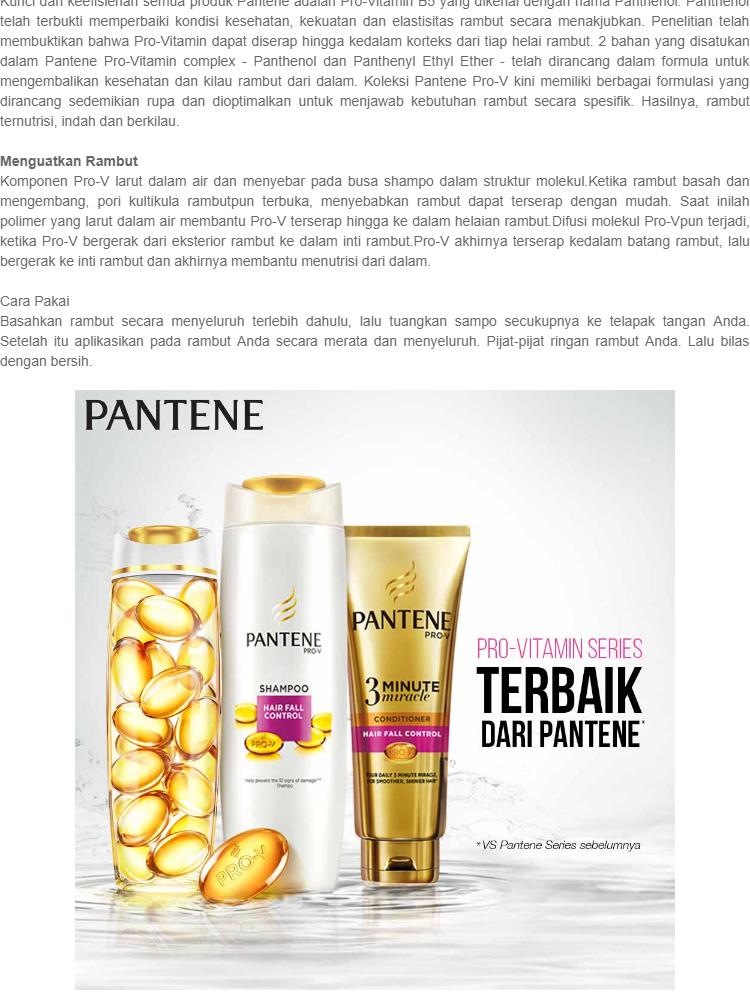 Spesifikasi dari Pantene Shampoo Hair Fall Control 320mL