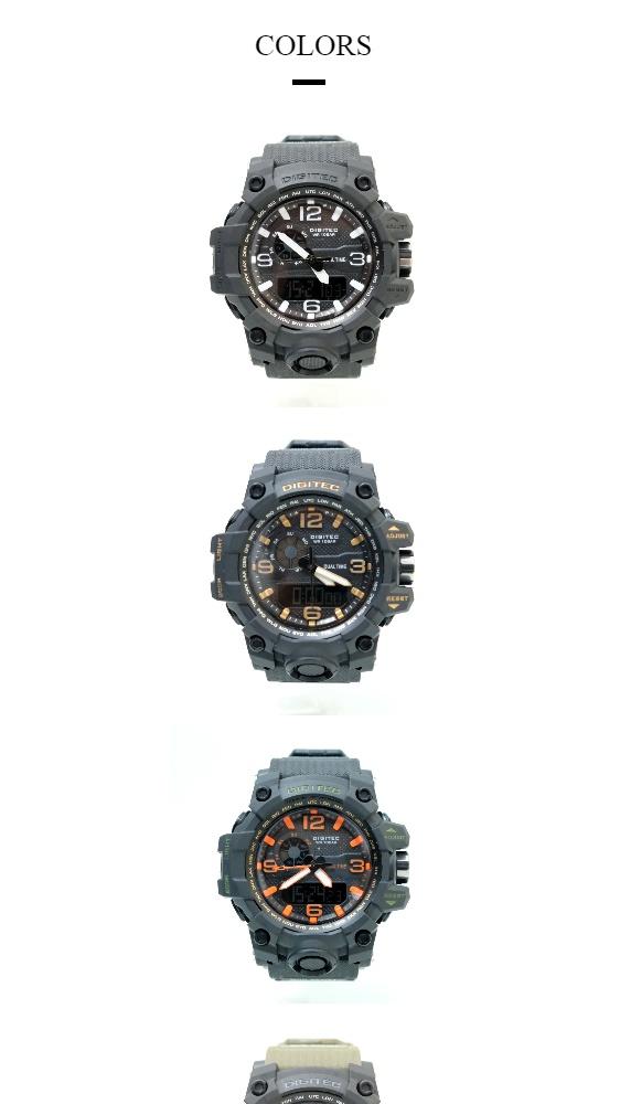 Spesifikasi dari Jam Tangan Pria Digitec Original 2093 Sport Watch Arloji Cowok Kasual Dual Time Analog Digital Water Resist