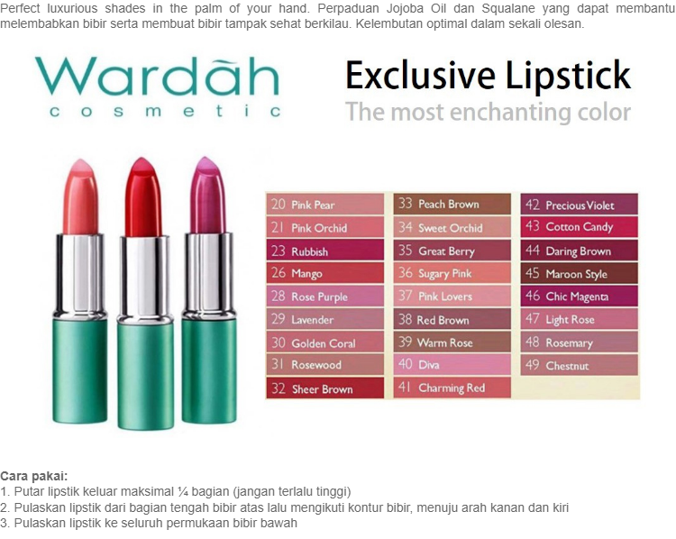 Wardah Lipstick Exclusive 44 Daring Brown | Lazada Indonesia