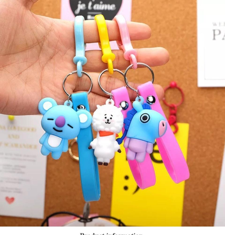 Hokkieaja Gantungan Kunci Cute Boneka Bts Bt21 Keychain Cartoon Gantungan Kunci Bts Gantungan Bts Aksesoris Bts Lazada Indonesia