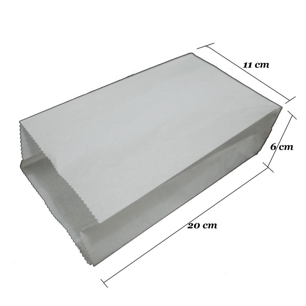 Spesifikasi dari Kantong Kertas - Bungkus Makanan - Kantong Fried Chicken - Bungkus Kebab - Paper Bag - Food Grade - Putih Polos