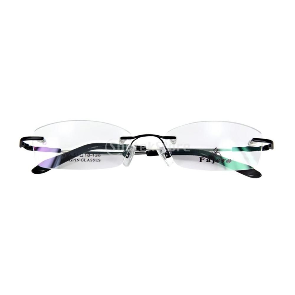 c988a0aa07 Kacamata Kacamata Tanpa Bingkai Logam Memori Bingkai Hitam