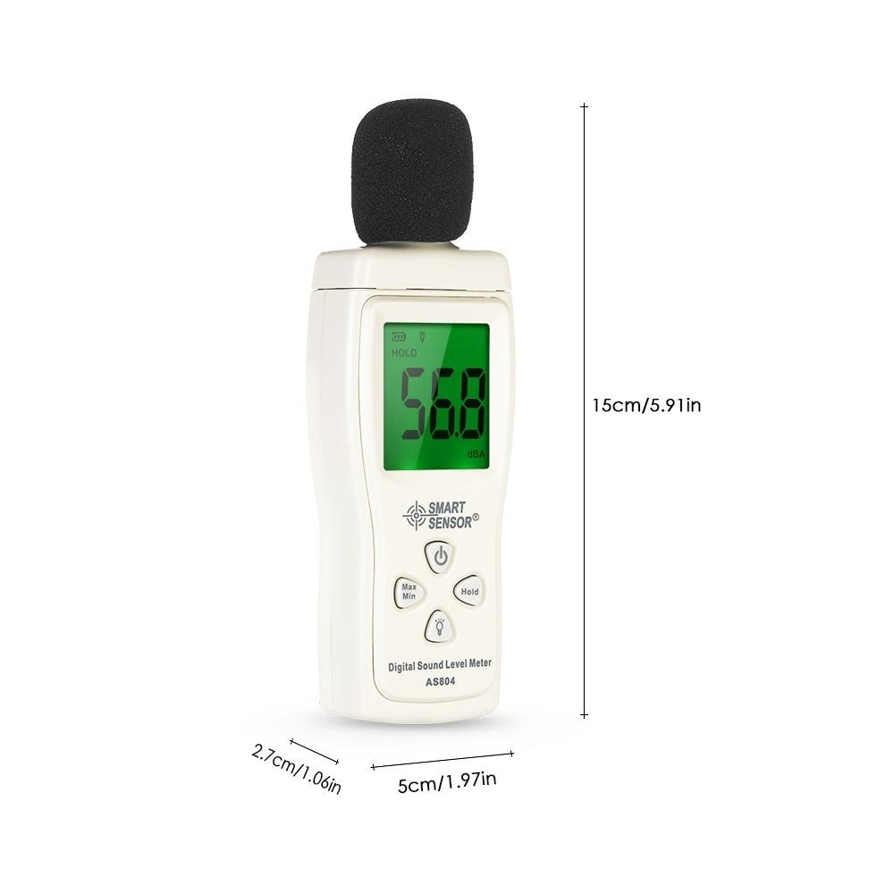 SMART SENSOR Mini Digital Sound Level Meter LCD Display Noise Meter Noise  Measuring Instrument Decibel Tester 30-130dBA